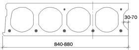 Пустотна плита ПК 200 мм схема