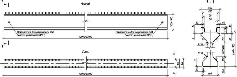 мостовые балки схема рисунок