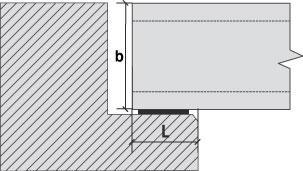 довжина обпирання плит