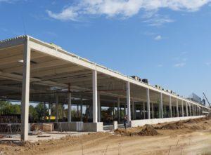 Будівництво будівельно-господарського гіпермаркету «Епіцентр» в Херсоні з використанням з/б конструкцій вир-ва «Обербетон»