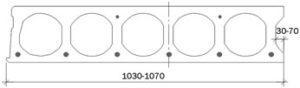 Пустотна плита перекриття ПК 200 мм
