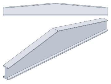 Двоскатні балки двотаврового перерізу