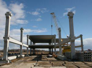Монтаж залізобетонних конструкцій виробництва «Обербетон»