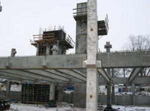 Монтаж збірного з/б каркасу виробництва «Обербетон» при будівництві цеху бортового харчування в МА «Бориспіль»