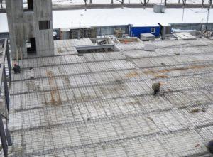 Влаштування перекриття з використанням незнімної опалубки «Обербетон» при будівництві цеху бортового харчування в МА «Бориспіль»