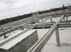 Збірний з/б каркас. Будівництво цеху бортового харчування в Міжнародному аеропорту «Бориспіль»