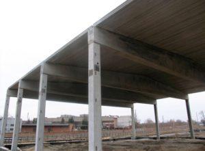 Сборный ж/б каркас. Строительство химсклада завода по производству МДФ, г. Коростень
