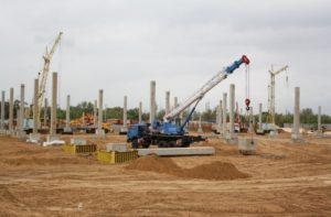Будівництво центру оптової торгівлі METRO з використанням з/б конструкцій виробництва «Обербетон»,