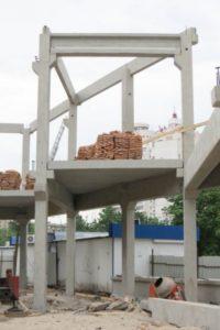 Будівництво ТЦ «ЕКО-маркет» з використанням з/б конструкцій виробництва «Обербетон»