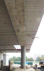 Перекриття з консольних плит вир-ва «Обербетон». Будівництво ТРЦ «Проспект»