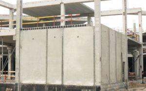 Змонтовані стінові панелі та пустотні плити виробництва «Обербетон». ТРЦ «Проспект», м Київ