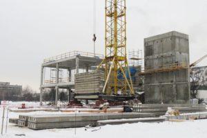 Пустотні плити перекриття товщиною 320 мм вир-ва «Обербетон» застосовуються при буд-ві ТРЦ «Проспект», м. Київ