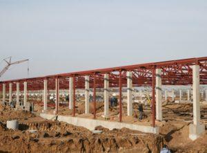 Будівництво оптового ринку «Столичний» в Києві з використанням збірних з/б конструкцій виробництва «Обербетон»