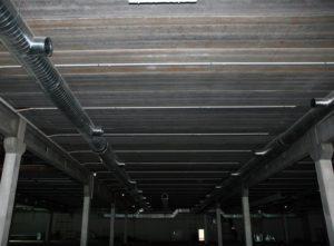 Перекриття з використанням пустотних плит довжиною 12 м виробництва «Обербетон»