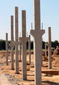 Залізобетонні колони з консолями виробництва «Обербетон»