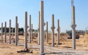 Змонтовані колони з консолями вир-ва «Обербетон»