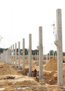 Змонтовані колони із консолями вир-ва «Обербетон»