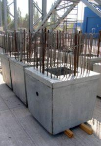 Залізобетонні фундаментні стакани з випусками арматури виробництва «Обербетон»