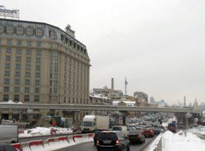 Реконструкція розв'язки на Почтовій площі в Києві з використанням попередньо напружених мостових балок вир-ва «Обербетон»