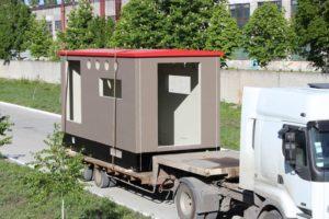 Транспортування готового бетонного корпусу для КТПБ