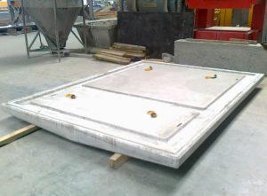 Виготовлення бетонного корпусу для трансформаторної підстанції на заводі «Обербетон»