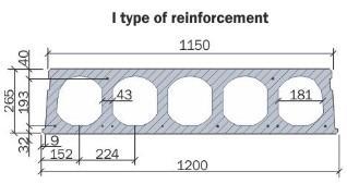 Hollow core slab 265 mm