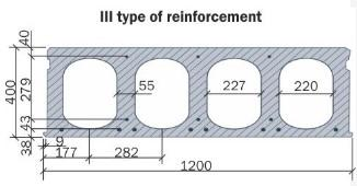 Hollow core slab 400 mm