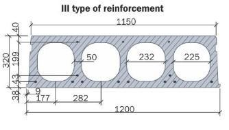 Hollow core slab 320 mm