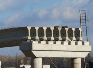 "Pre-stressed bridge beams produced by ""Oberbeton"" for the reconstruction of an interchange on Poshtova Sq., Kiev"