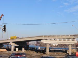 "Reconstruction of an interchange on the Poshtova Square in Kiev using prestressed bridge beams, produced by ""Oberbeton"""