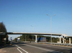 Пешеходный мост на трассе Киев-Чоп, с. Березовка, Житомирская обл.