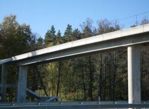 Pedestrian bridge on the highway Kyiv-Chop, vil. Berezovka, Zhytomyr region