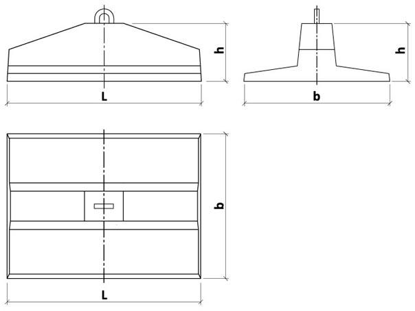 чертеж анкерной плиты Обербетон